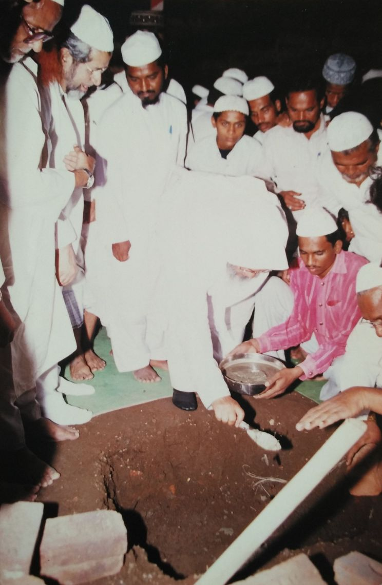 Maulana Shahabuddin at Makkah Masjid Foundation Ceremony